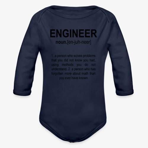 Engineer Def. 2 Black - Body Bébé bio manches longues