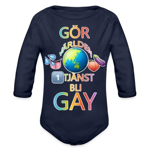 Gör Världen En Tjänst, Bli Gay LBGTQ+ - Ekologisk långärmad babybody