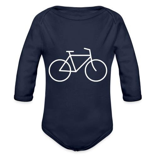 Bicycle white - Polkupyörä valkoinen - Vauvan pitkähihainen luomu-body
