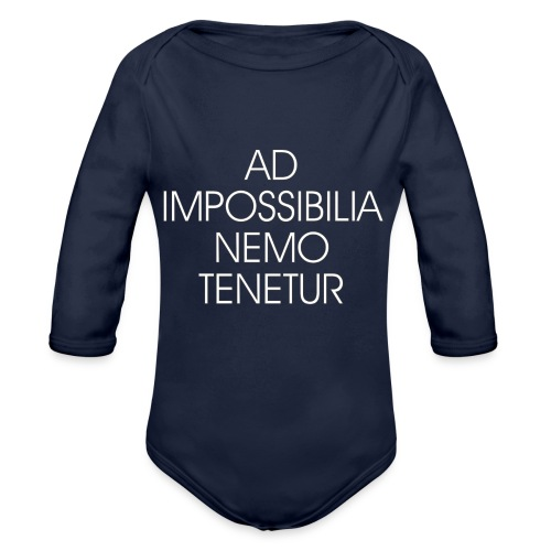 Ad Impossibilia Nemo Tenetur t-shirt avvocato - Organic Longsleeve Baby Bodysuit