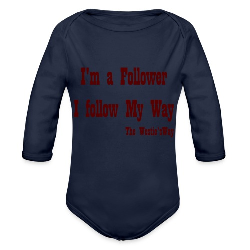 I follow My Way Brown - Ekologiczne body niemowlęce z długim rękawem