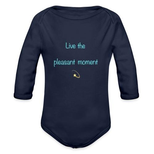 Live the pleasant moment - Body Bébé bio manches longues