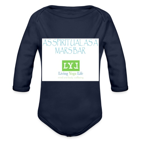 SPITUAL MARS BAR - Organic Longsleeve Baby Bodysuit