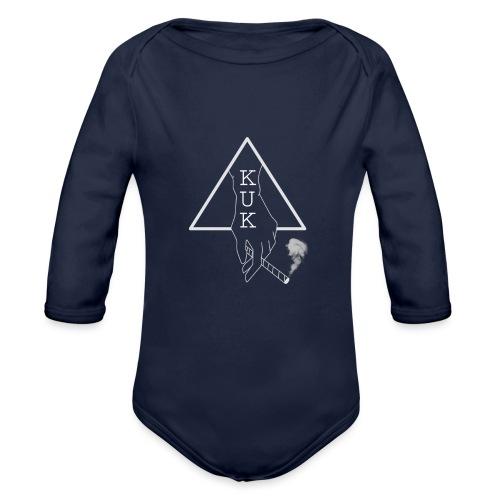 K.U.K - Logo Pulli schwarz - Baby Bio-Langarm-Body