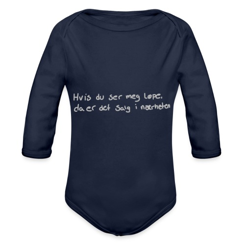 Salg løpe - Økologisk langermet baby-body