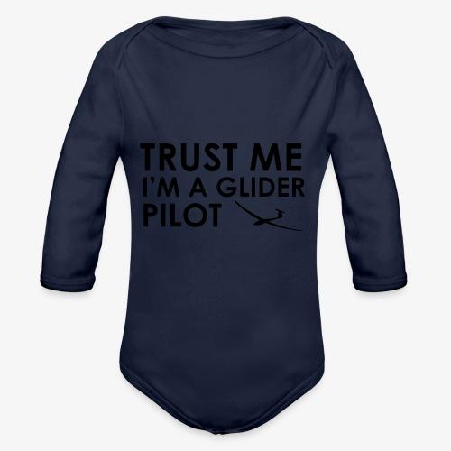 Trust me glider pilot - Body Bébé bio manches longues