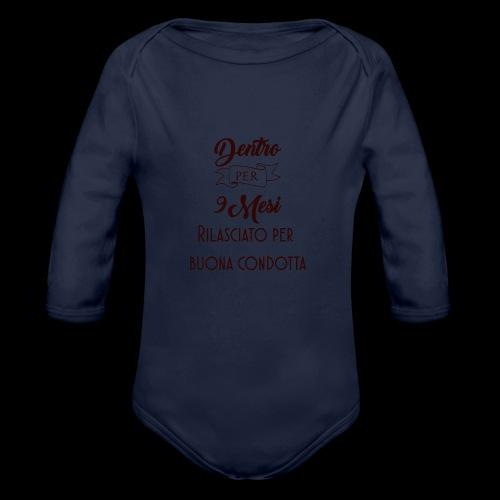 dentro 9 mesi - Body ecologico per neonato a manica lunga