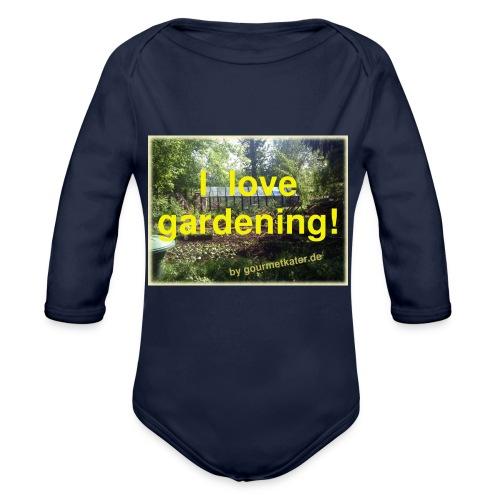 I love gardening - Garten - Baby Bio-Langarm-Body