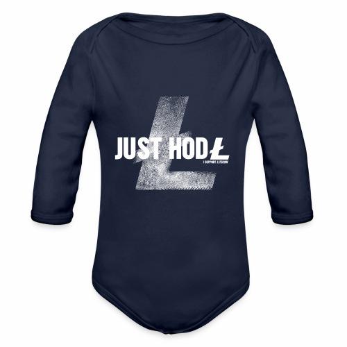 Litecoin Just Hold - Body ecologico per neonato a manica lunga