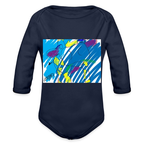 Signed Rainbow Cow - Organic Longsleeve Baby Bodysuit