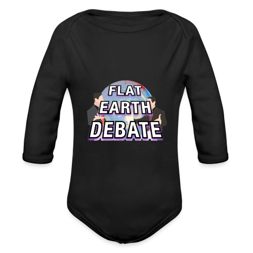 Flat Earth Debate Solid - Organic Longsleeve Baby Bodysuit
