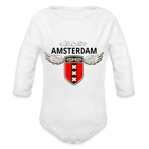 Amsterdam Netherlands - Baby Bio-Langarm-Body