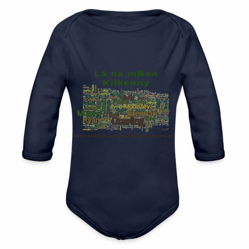 Lá na mban Kilkenny Wordle - Organic Longsleeve Baby Bodysuit