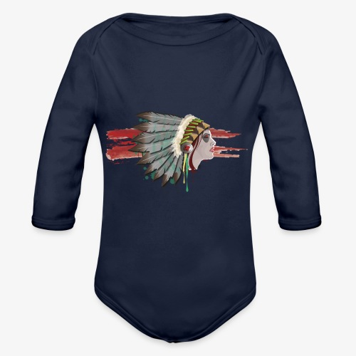 Native american - Body Bébé bio manches longues
