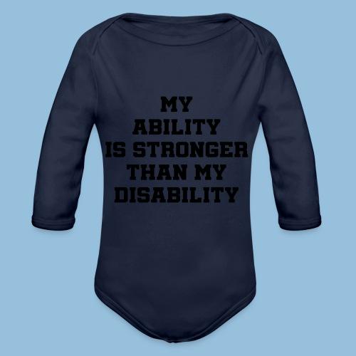 Ability3 - Baby bio-rompertje met lange mouwen