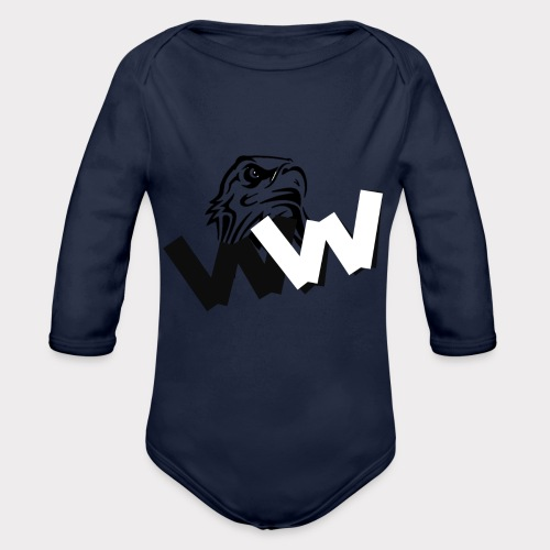 White and Black W with eagle - Organic Longsleeve Baby Bodysuit