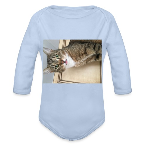 Kotek - Ekologiczne body niemowlęce z długim rękawem
