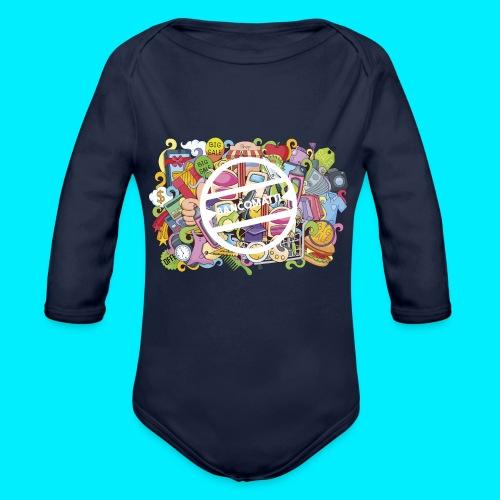 maglia logo doodle - Body ecologico per neonato a manica lunga