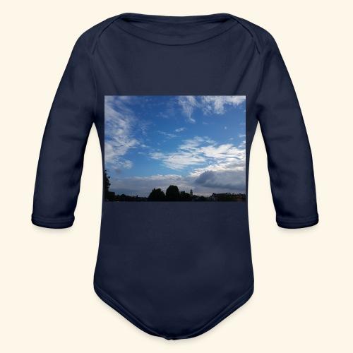 himmlisches Wolkenbild - Baby Bio-Langarm-Body