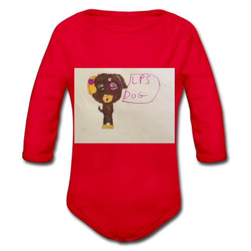 Little pets shop dog - Organic Longsleeve Baby Bodysuit