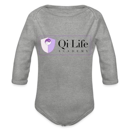 Qi Life Academy Promo Gear - Organic Longsleeve Baby Bodysuit
