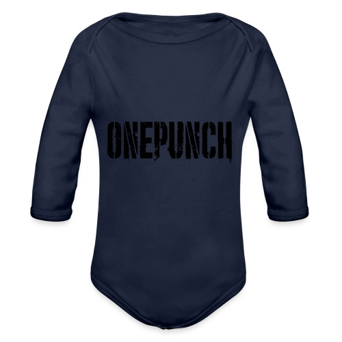 Boxing Boxing Martial Arts mma tshirt one punch - Organic Longsleeve Baby Bodysuit
