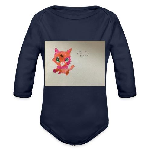 Little pet shop fox cat - Organic Longsleeve Baby Bodysuit