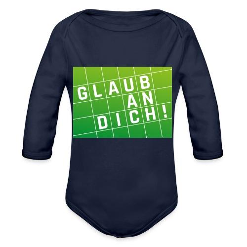 Glaub an Dich! - Baby Bio-Langarm-Body