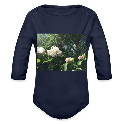 The Flower Shirt - Æbleblomster - Langærmet babybody, økologisk bomuld