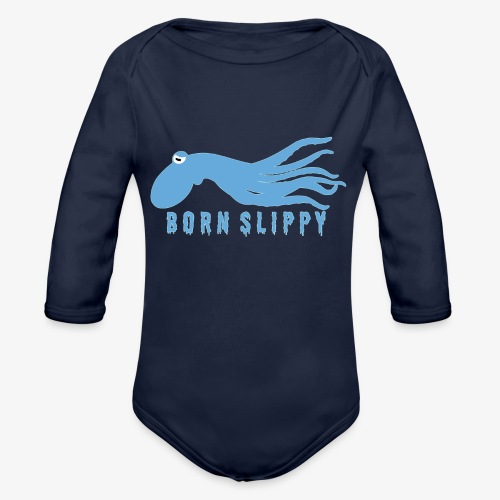 Slippy on by - Organic Longsleeve Baby Bodysuit
