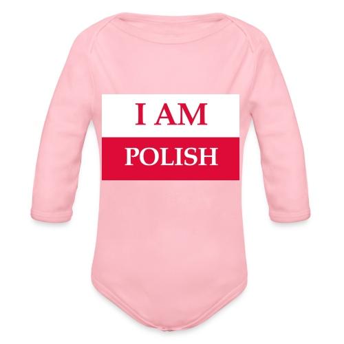 I am polish - Ekologiczne body niemowlęce z długim rękawem