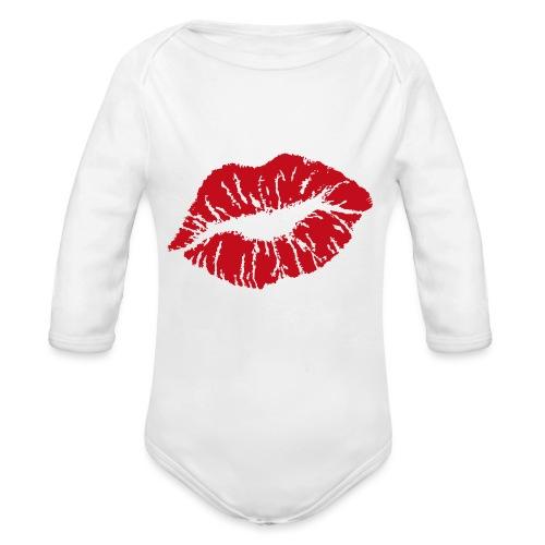 T-shirt bisous blanc - Body Bébé bio manches longues