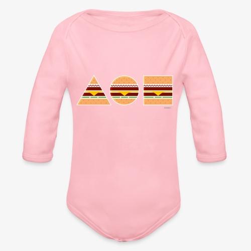 Graphic Burgers - Body ecologico per neonato a manica lunga