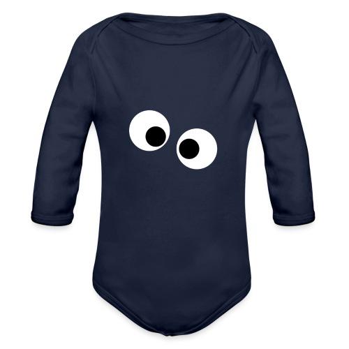 silly eyes - Baby bio-rompertje met lange mouwen