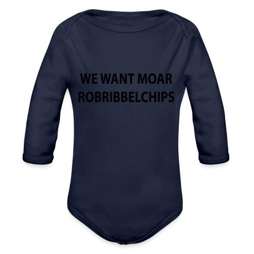 We want Moar RobRibbelchips T-Shirt (Male) - Organic Longsleeve Baby Bodysuit