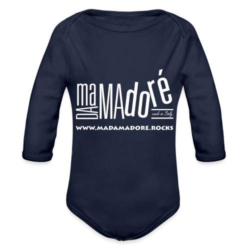 T-Shirt Premium - Uomo - Logo Bianco + Sito - Body ecologico per neonato a manica lunga
