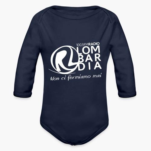 Uomo - Maglietta - Logo Bianco - Body ecologico per neonato a manica lunga