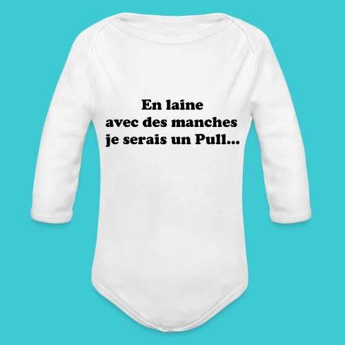 t-shirt humour - Body Bébé bio manches longues