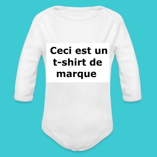 t-shirt2 - Body Bébé bio manches longues