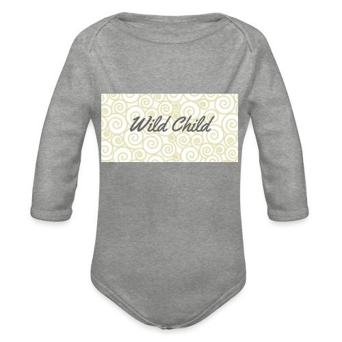 Wild Child 1 - Organic Longsleeve Baby Bodysuit