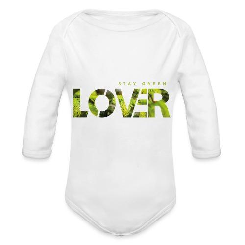 Stay Green Lover - Body ecologico per neonato a manica lunga