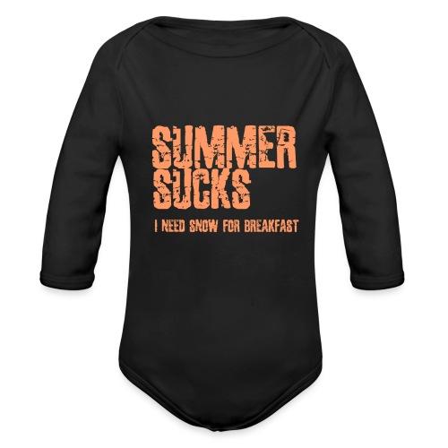 SUMMER SUCKS - Baby bio-rompertje met lange mouwen