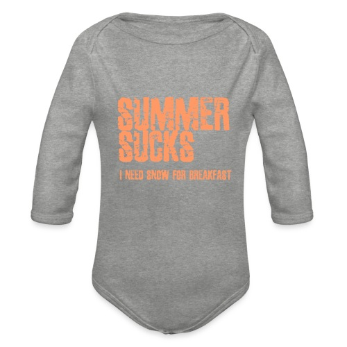 SUMMER SUCKS - Baby bio-rompertje met lange mouwen