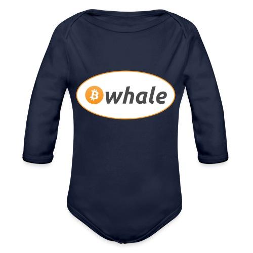 Bitcoin Whale - Organic Longsleeve Baby Bodysuit