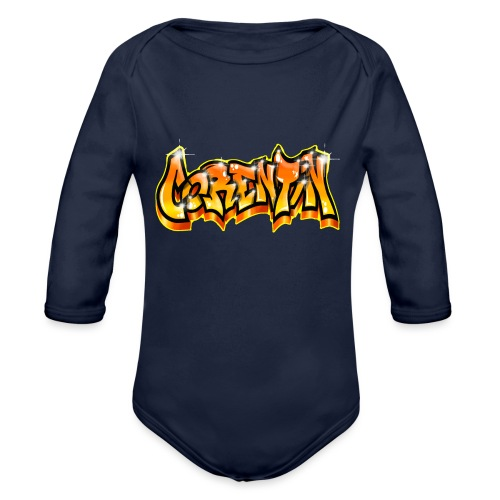 Graffiti Name CORENTIN - Body Bébé bio manches longues