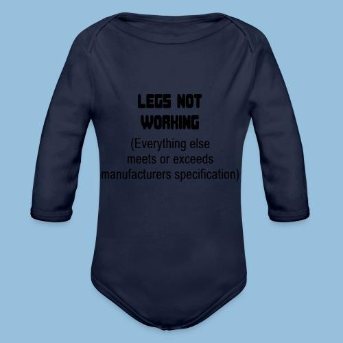 LEGSNOTWORK - Baby bio-rompertje met lange mouwen