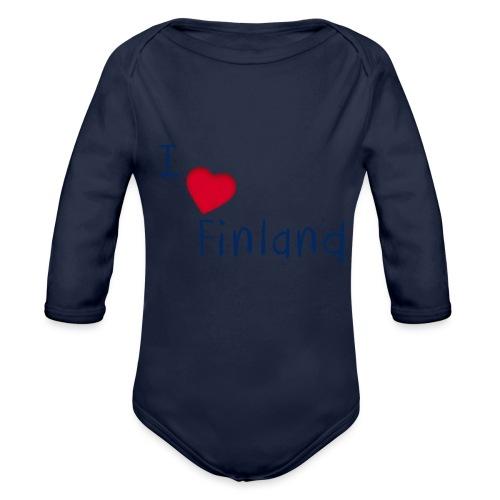 I Love Finland - Vauvan pitkähihainen luomu-body