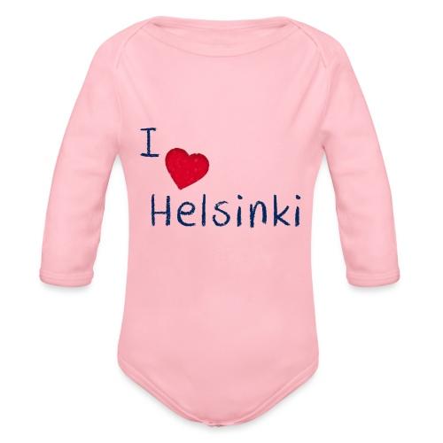 I Love Helsinki - Vauvan pitkähihainen luomu-body