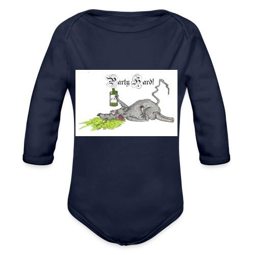 PartyHard - Baby Bio-Langarm-Body