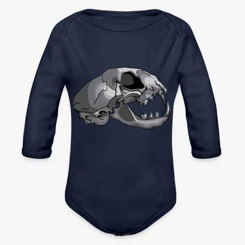 cat skull - Organic Longsleeve Baby Bodysuit